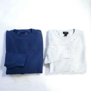 J.Crew (2) Crewneck Long Sleeve Pullover Sweater